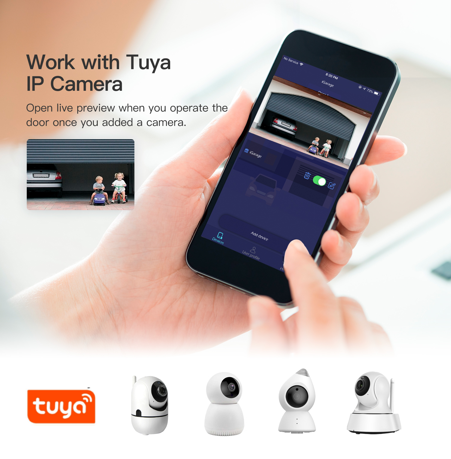 Newest Tuya Wireless WIFI Remote Control Smart Garage Door Opener Supports Alexa and Google Home Voice Control