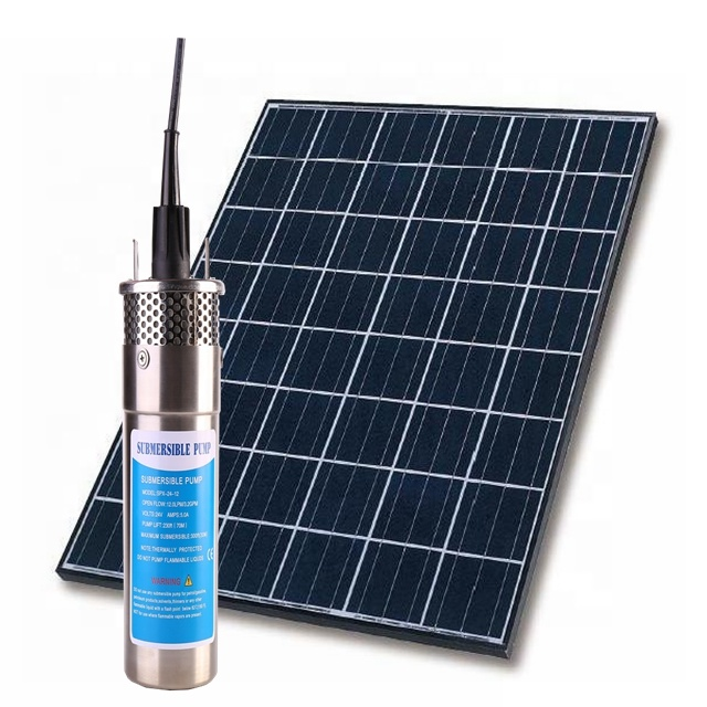 Stainless Steel 12v 24v DC Solar Powered Water Pump Used For Home Solar System