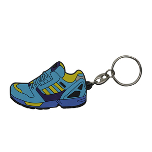 Wholesale custom made logo key keychain pvc shoes keychain 3d keychain
