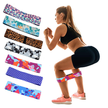 Custom Printing Stof Luipaard Print Oefening Fitness Hip Loop Booty Resistance Bands <span class=keywords><strong>Set</strong></span>