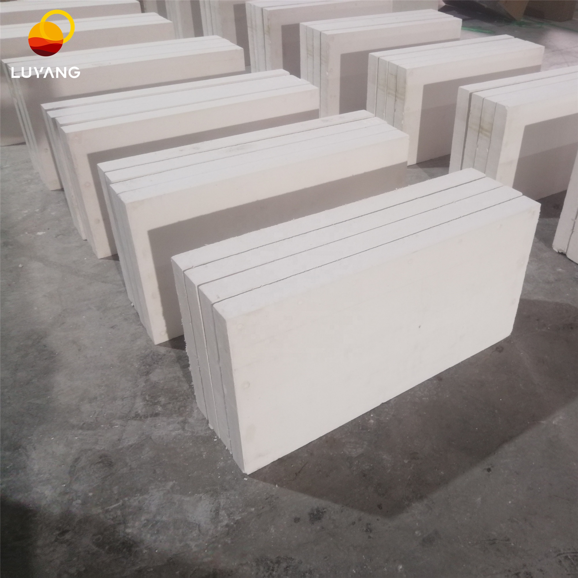 Luyang four edges smooth Polished calcium silicate board price