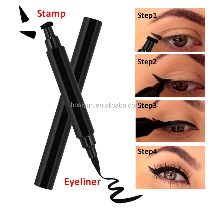 Original Eyeliner Stamp 2 double-sided pens winged liquid eyeliner stamp & pencil long lasting fast dry private label