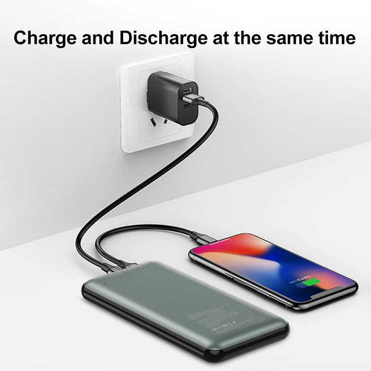 Portable Wireless Charger 10000mAh Qi-Certified 18W PD QC 3.0 10W Fast Charging Wireless Power Bank for iPhone Samsung and More