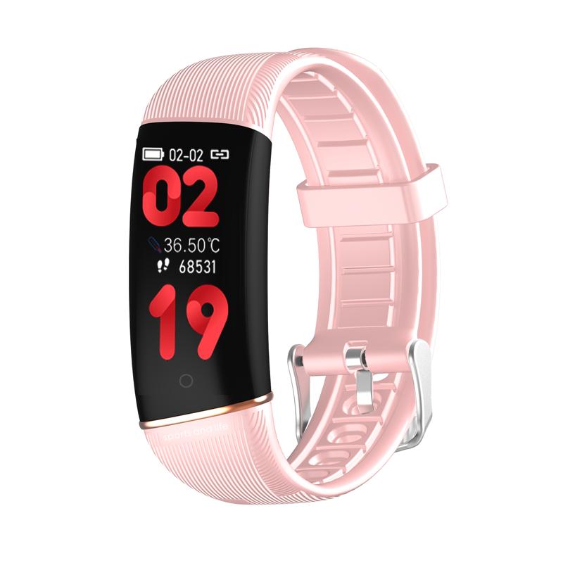 Smart bracelet E98S body temperature smart wristband Super thin 0.96 inch