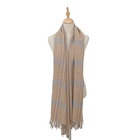 wholesale winter custom cashmere grid long scarf
