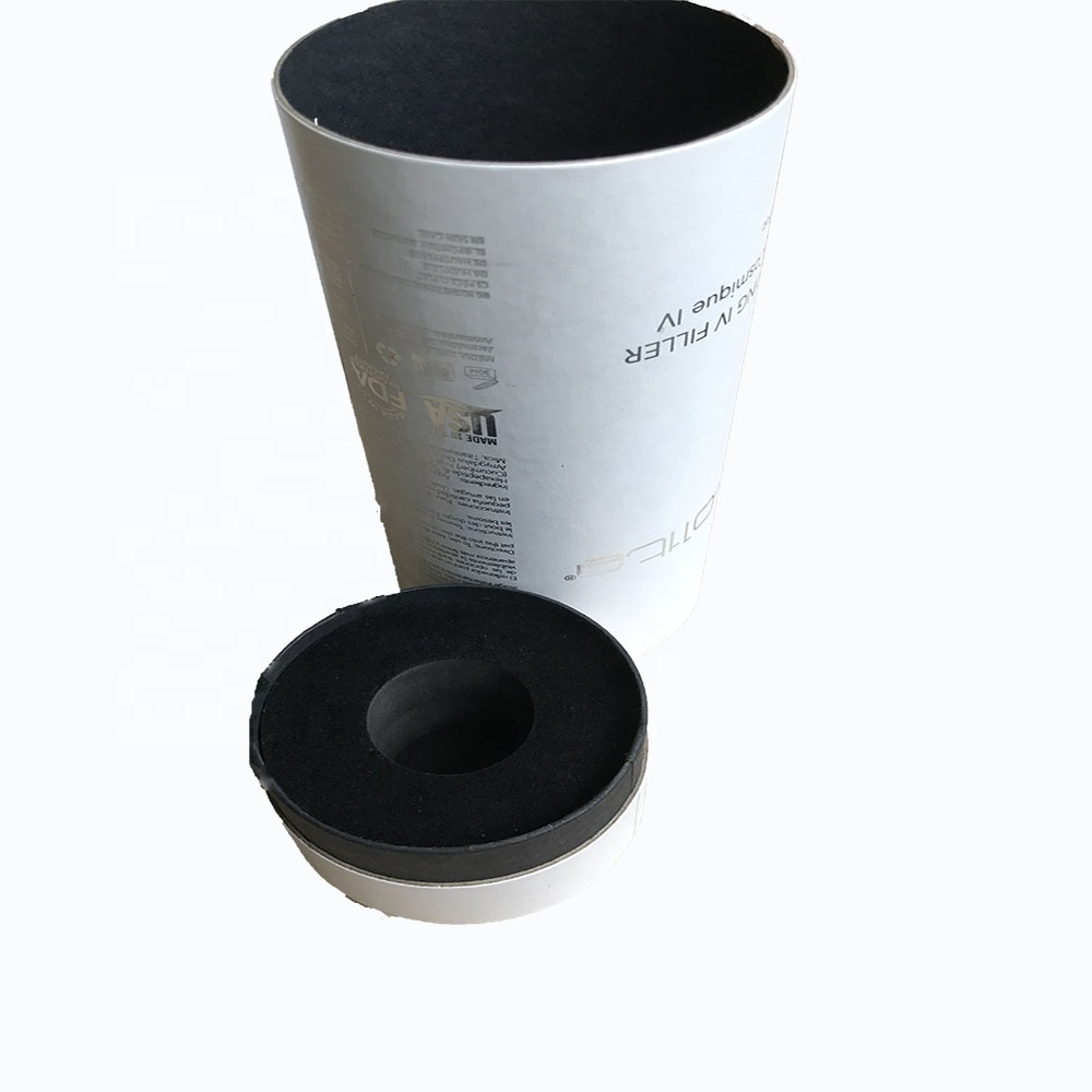 TOSUN Hot Sale White Black Paper Tube for Dropper Bottle Cosmetics