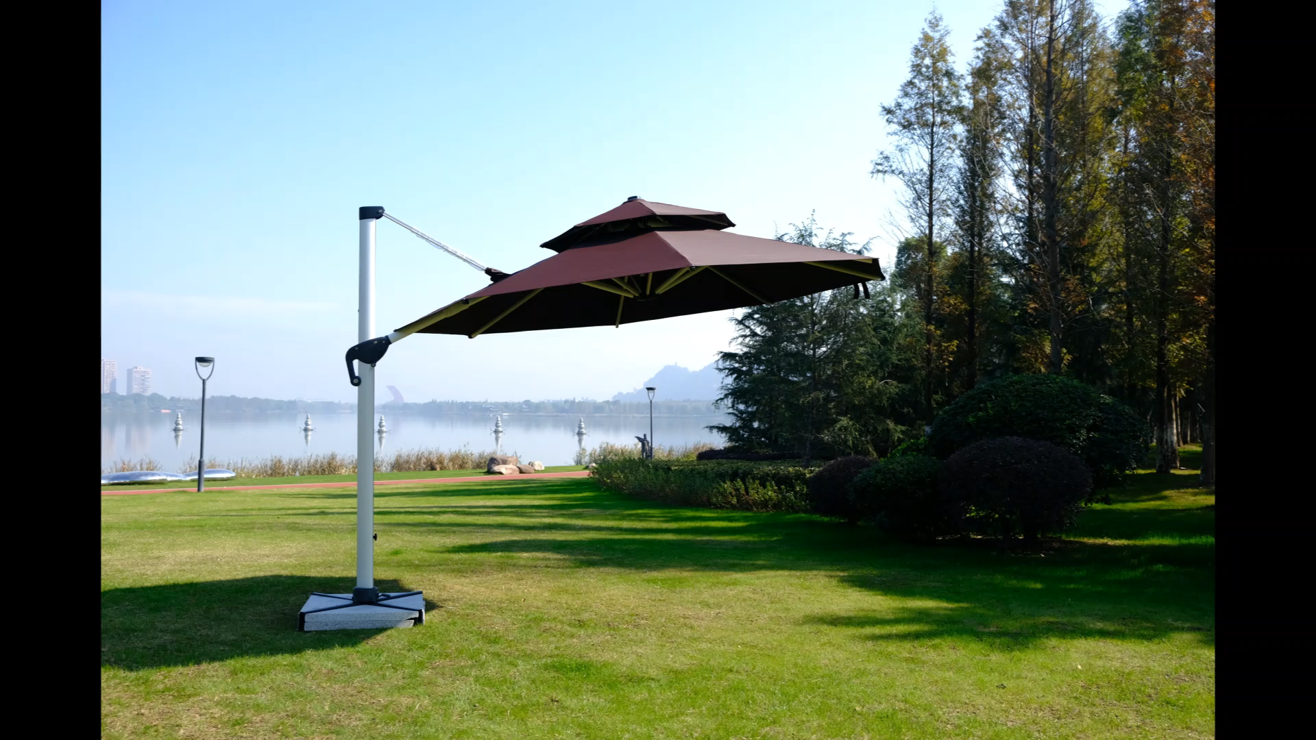 Оптовая Продажа пользовательских УФ-защиты большая Регулировка открытый висит открытый рынок патио пляжный зонтик