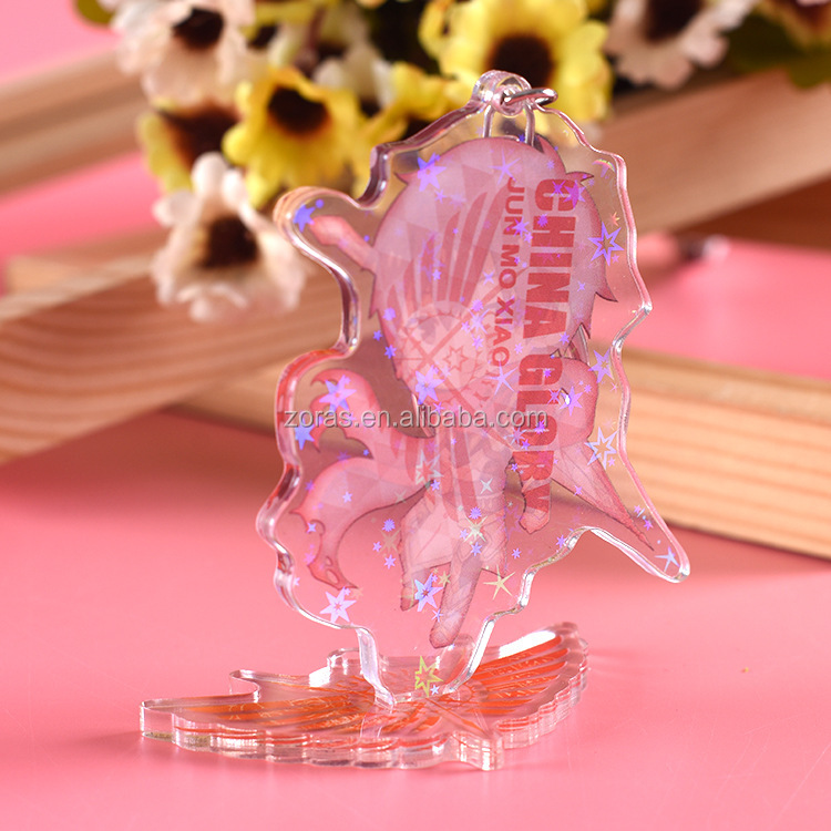 ODM OEM Colorful Anime Printed Double Side Custom Printed Cartoon Clear Acrylic Keychain