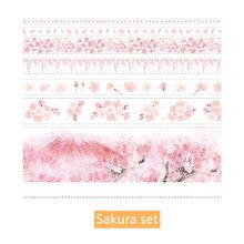 7 шт., бумажный набор декоративного скотча Васи, фантастический розовый цветок единорога, Ретро Живопись, клейкие ленты для маскировки, Bullet ...(Китай)