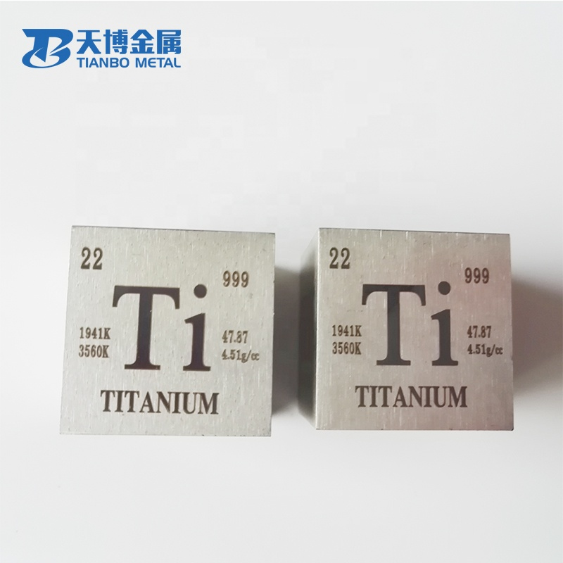 Hot sale 25.4mm 1inch <strong>grade</strong> <strong>2</strong> <strong>titanium</strong> cube on sale for decorate
