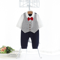 handsome suit design warm baby clothes baby boy rompers for Autumn Winter