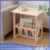 Bamboo Wooden Tea Side Table with Book Rack