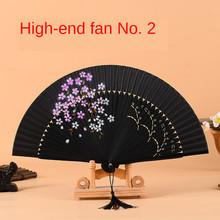 Китайский веер, древний ветер, складной веер, японский Вишневый цветок, кролик, веер, классический подарок, Шелковый веер, веер, веер из бамбу...(Китай)