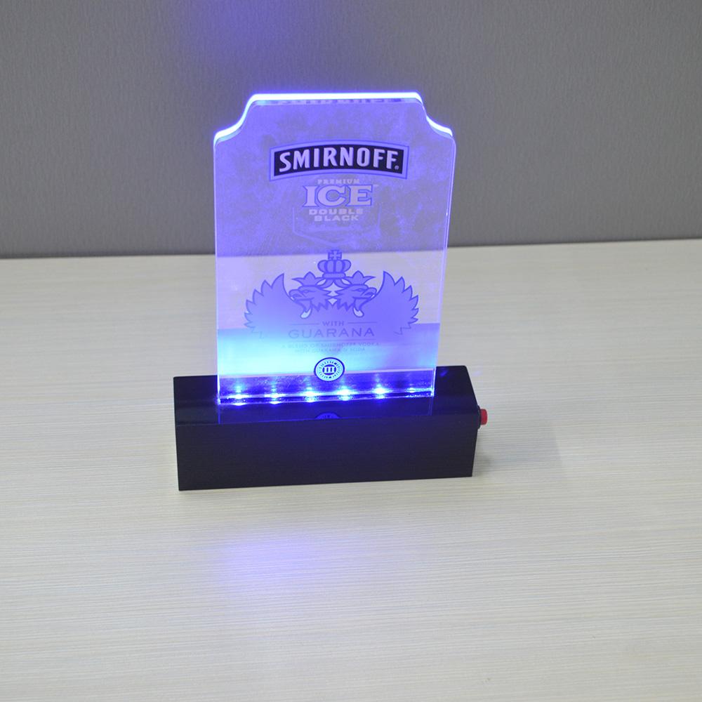Baterai Supply Akrilik Led Menu Pemegang Usb