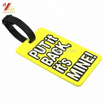 Nome personalizado 3D Logotipo de Borracha PVC Macio Tag Vestuário Etiqueta de Viagem Acessórios de Viagem Tag Da Bagagem do Couro À Prova D' Água