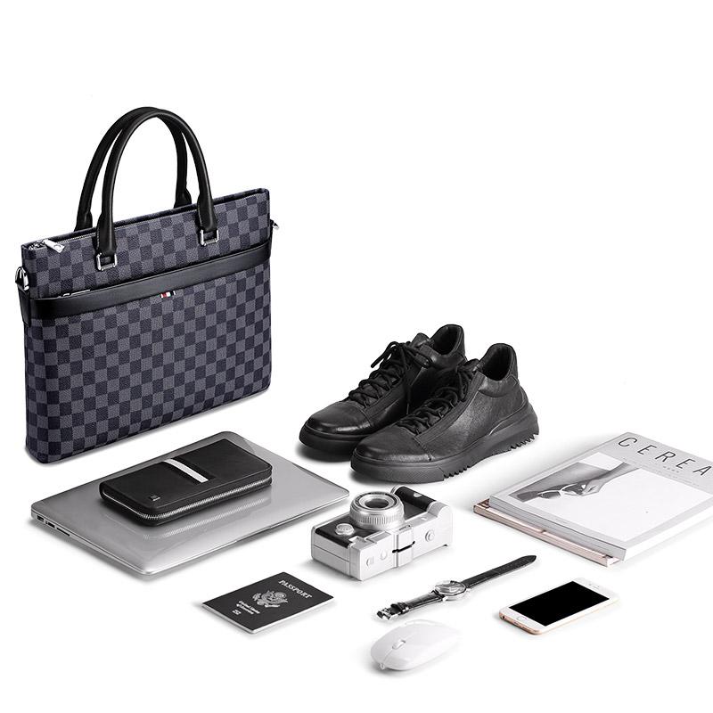 WILLIAMPOLO Genuine Leather Business Luxury Men's Handbag Briefcase MOQ 1 Piece Spot OEM Service