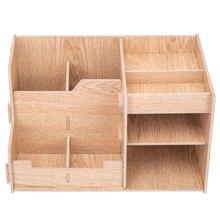Многофункциональный настольный держатель для ручек, офисный школьный чехол для хранения канцелярских принадлежностей, деревянный ящик, на...(Китай)
