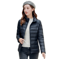 real duck down women stand collar quilted jacket, real feather lady down jacket, women coats warm windproof