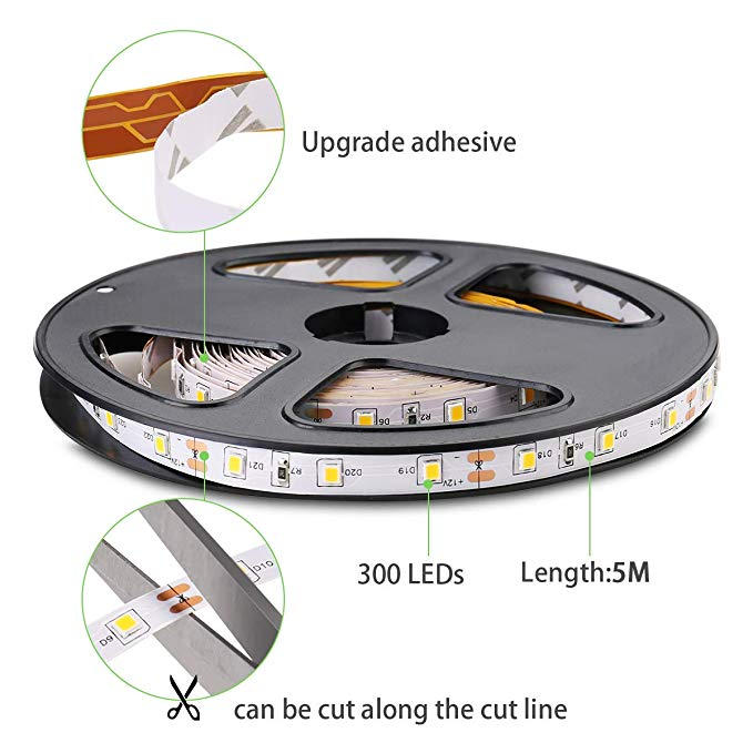 Led Strip Light 120led Single Color Luminous White Body Lamp Copper Customized Power Chip Outdoor