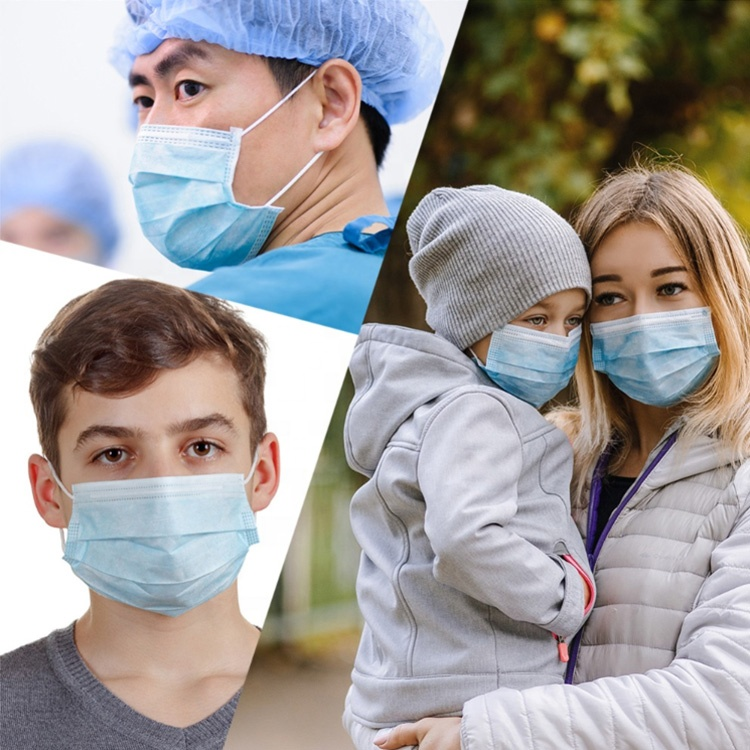 wholesale medical surgical mask nonwoven 3 ply disposable surgical face mask manufacturer with ce