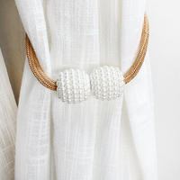 Pearl Magnetic Curtain Holders Tieback Buckle Clips Hanging Ball Buckle Accessories Home Decoration Accessories