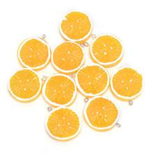 10 шт./лот, милые Подвески из смолы с плоской спинкой и лимоном, подвески для DIY, украшения фруктов, серьги, брелок, аксессуар для телефона(Китай)