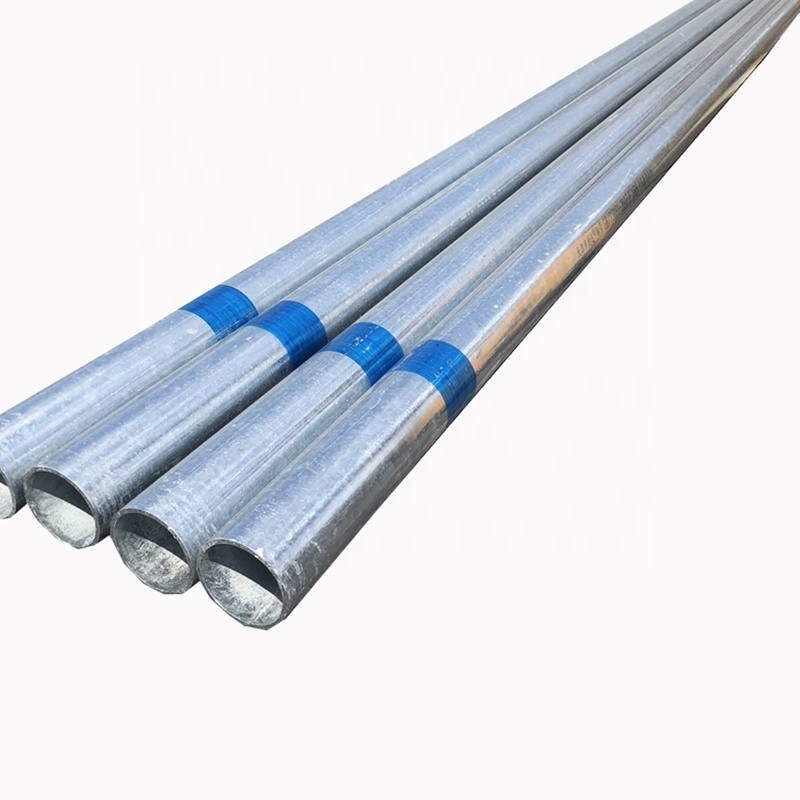 Galvanized carbon steel seamless pipe and tube