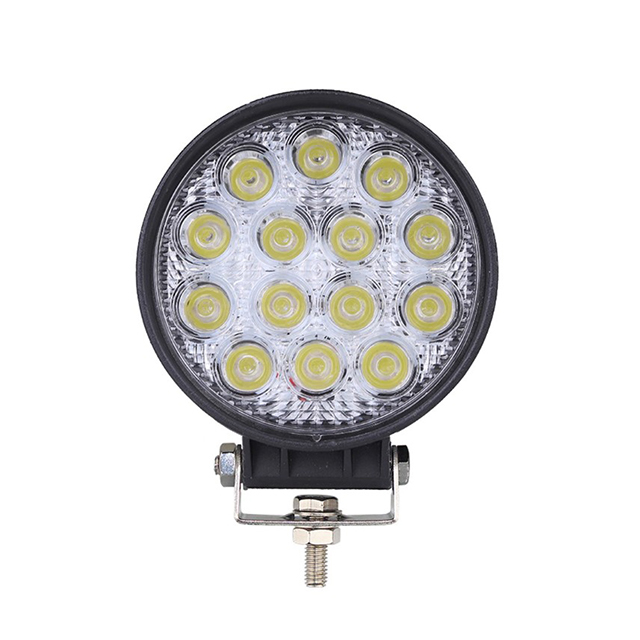 4 Inch 42 watt led flood work light 4x4 off road spot lights round Trucks Atv 4WD LED driving light 42W 4 inch round cheap price