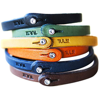 Cuff Wristband Punk Bangle Custom Size/Color/Logo The First Level Top-quality Genuine Cowhide Leather Handmade Unisex Bracelet