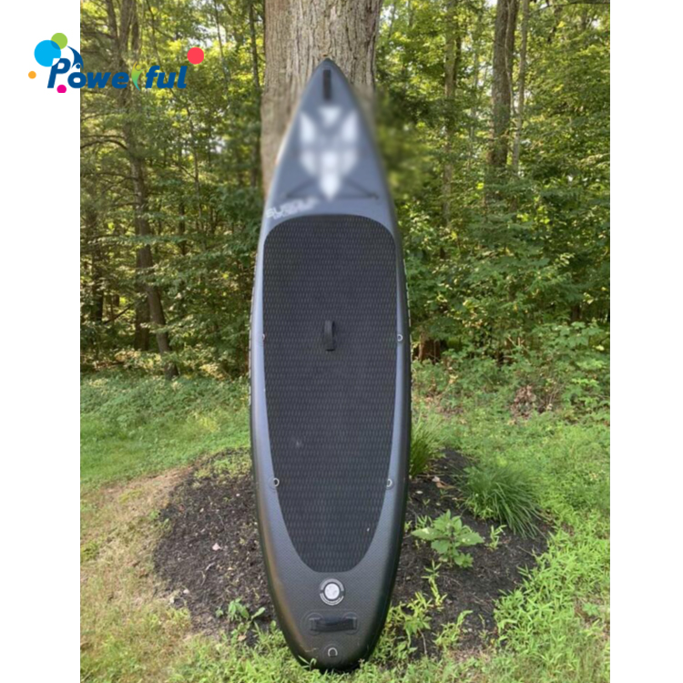 Full Black Stand-up inflatable sup surf board surf board for sale