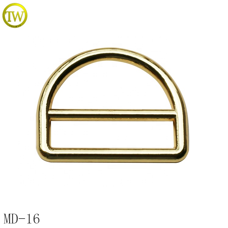 Metal D Ring Buckle zinc alloy dog buckle Nickel Plated ring for bags