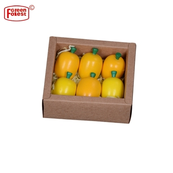 Kids Educational Wooden Fruit Toy Food Play Set Pretend Play Kitchen Toy