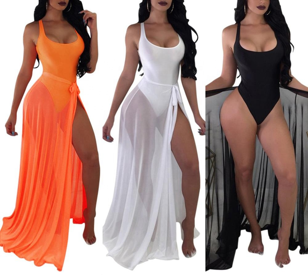 Women <strong>Sexy</strong> Backless Bodysuit Lace up See Through Maxi Skirt Set 2 Piece <strong>Swimsuit</strong> <strong>swimsuit</strong> wholesale