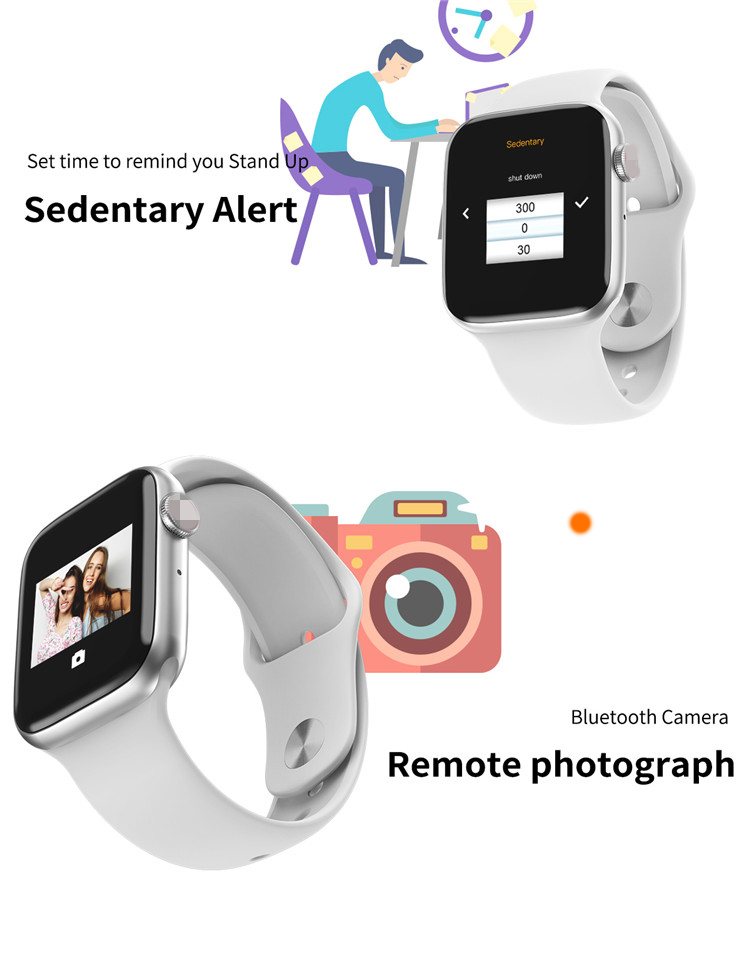 Amazon New Hot T500 Plus 1.54 inch Big Screen Smart Watch W26 w34 smart watch specification