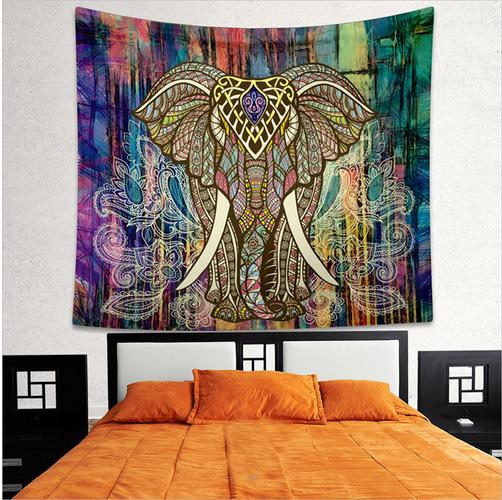 RTS AliExpress Elephant Wall Hanging  Mandala Custom Tapestry