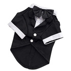 Tie Bow Tie [ Dog Wedding ] Tie Bow Shirt Formal Tuxedo With Black Tie Dog Prince Wedding Bow Tie Suit Pet Wedding Clothes