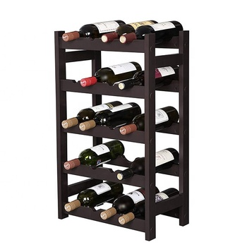 Customized Commercial Wood Wine Rack for Wine Store