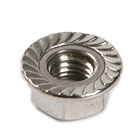 DIN6926 M3 M4 M5 M6 M8 M10 M12 304/316 Stainless Steel Hexagonal Flange Nut With A Non-slip Mat Nylon Locking Nut