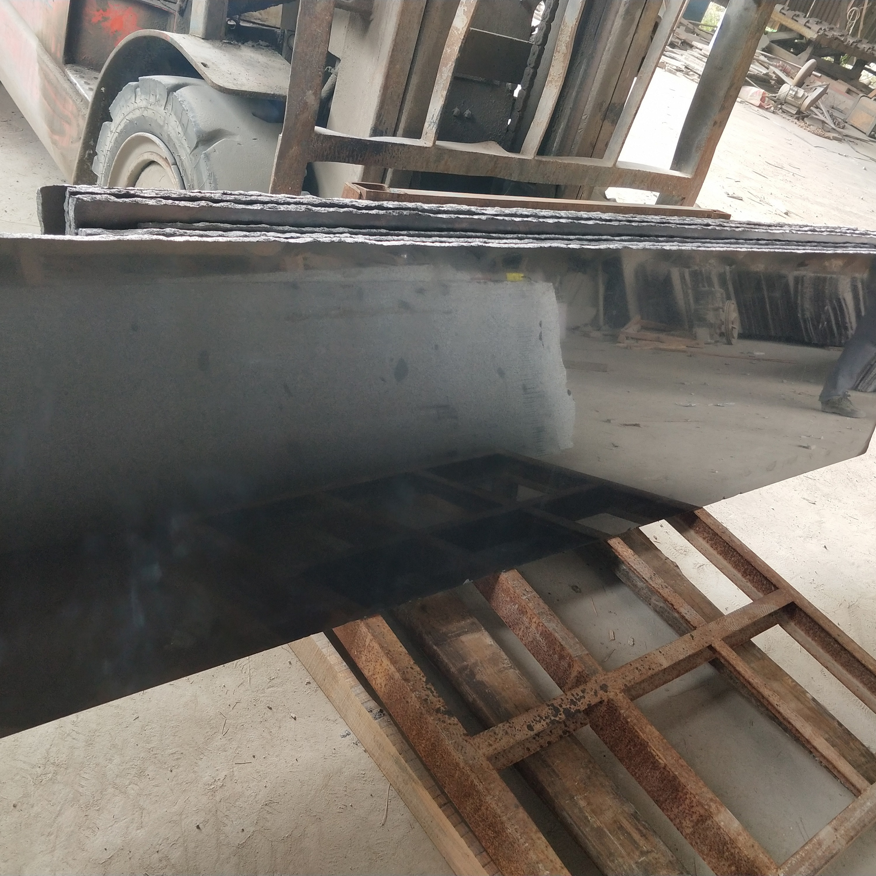 Dyed black granite slab,dyeing black granite tile