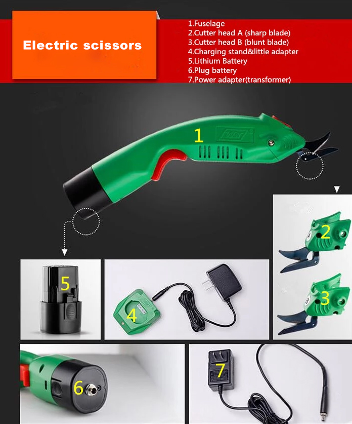 Grape Electric Scissors Tools Electrical Scissor For Cutting