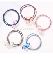 Wholesale fashion cute girl knotted hair ring rubber band female hair ornaments
