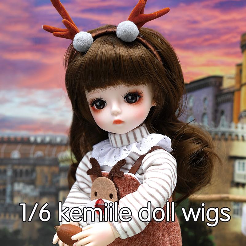 DORISDOLL Сменные термостойкие длинные прямые вьющиеся волосы Искусственные парики для 1/6 BJD куклы 60 см Прямо вьющиеся девушка кукла оптовая продажа