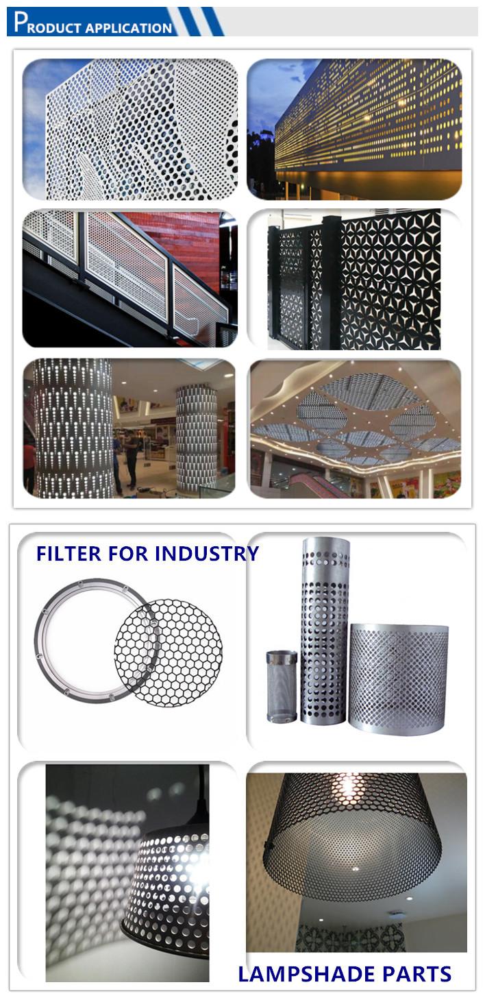 factory customized  hexagonal wire mesh hexagonal perforated metal mesh