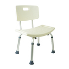 removable backrest aluminum shower chair commode handicapped medical bath chair bathroom shower seat for disabled and elderly