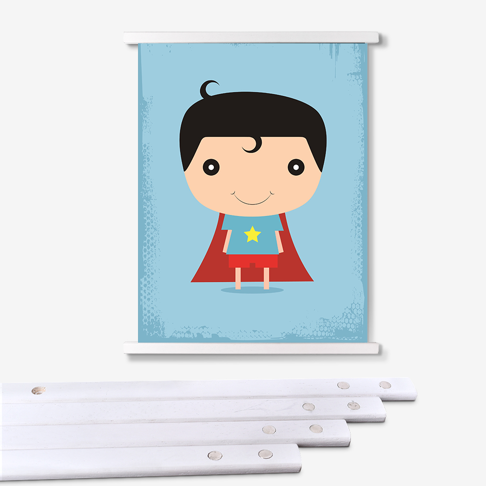 Kids Room Popular Cartoon Anime Character Poster Printing With Magnetic Frame