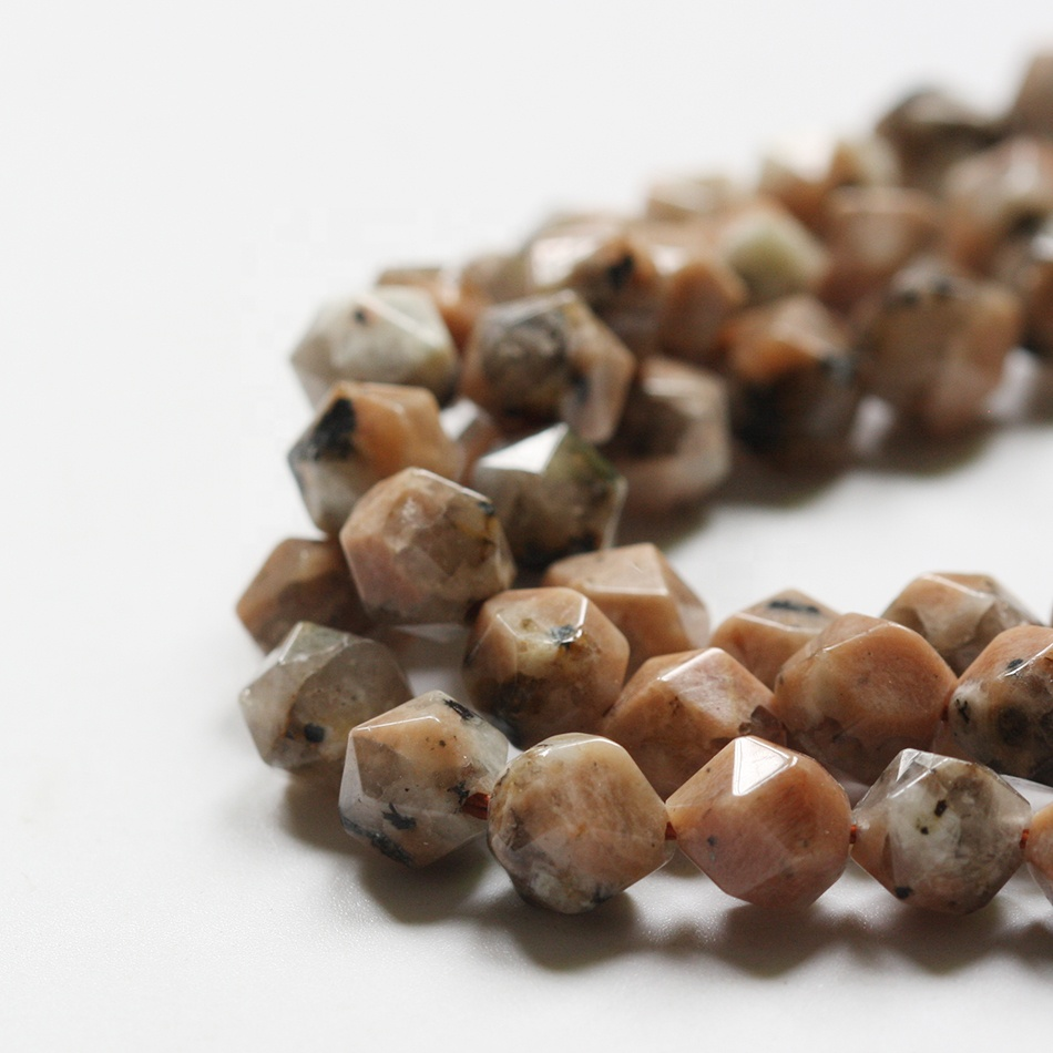 Natural Faceted Tiger Eye Beads for Loose Bead Gemstone for Jewelry Making