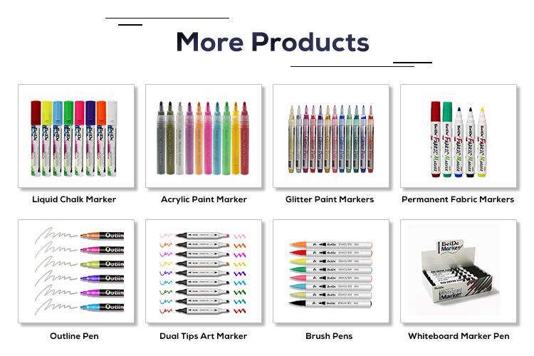 Клапан-структура действия 16 ярких цветов Розовый Перманентный маркер рисунки ручка