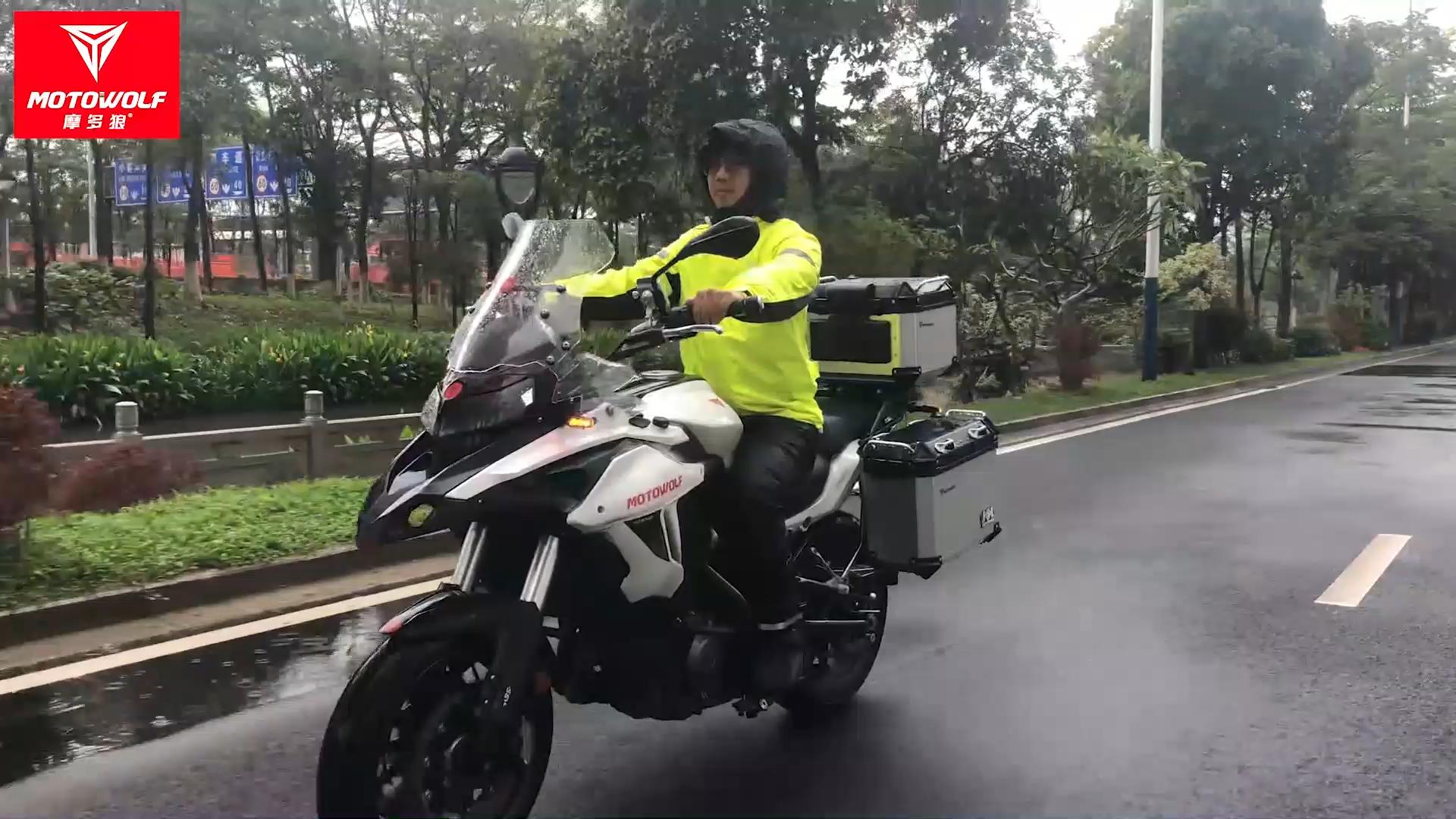 MOTOWOLF Jaune Mince Traje Imperméable Réfléchissante Manteaux de Pluie Moto Proof Combinaison De Pluie avec Capuche