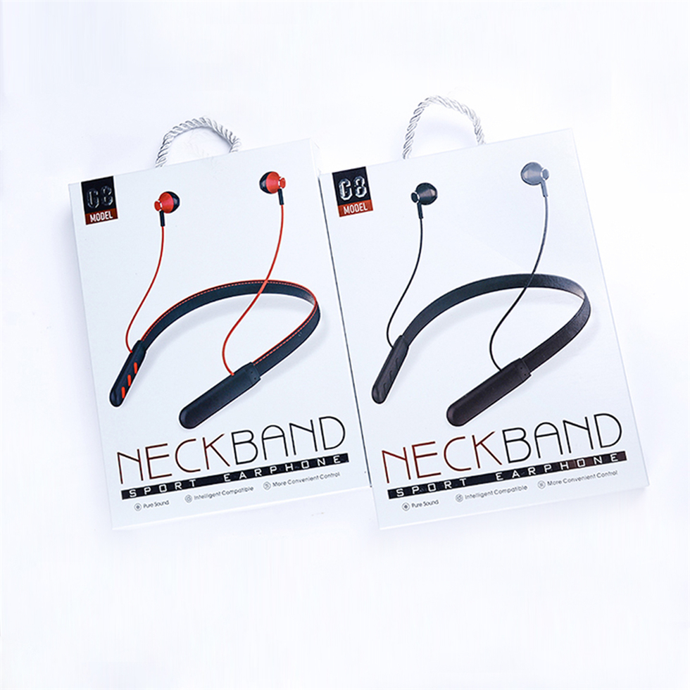 Super Bass Hanging Neck Magnetic Earphone Wireless Bluetooth Headset for Mobilphones