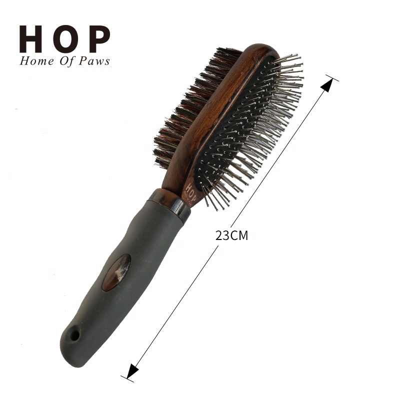 Wood Handle With Soft TPR Pet Hair Remover Pet Products Supplies  Brush